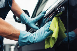 Cleaning a car